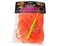 Силиконовые резиночки для браслетов оранжевые 250 шт, фото 1