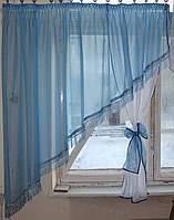 Кухонный комплект №13 Голубой с белым