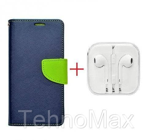 Чехол книжка Goospery для LG ARISTO 2 + наушники Apple iPhone (в комплекте). Подарок!!!