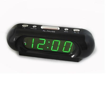 Часы сетевые 716-2 зеленые