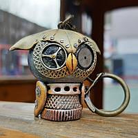Брелок на ключи Механическая сова Подарок в стиле стимпанк Ручная работа