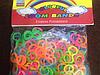 Силиконовые резиночки для браслетов в форме 8 разноцветные 300 шт