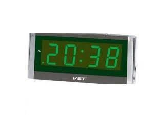 Часы сетевые 731-2 (зеленые), фото 2
