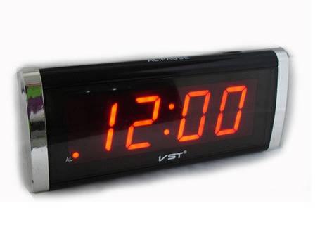 Часы сетевые 731-1 (красные), фото 2