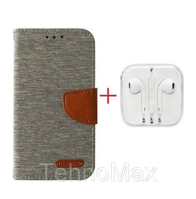 Чехол книжка Goospery для Asus ZENFONE 3 ZE520KL + наушники Apple iPhone (в комплекте). Подарок!!!