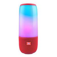 Колонка JBL портативная беспроводная Pulse 3 mini, влагозащитная Bluetooth пульс мини с светомузыкой красная