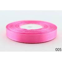 Лента атласная 1,2 см. 23 метра ярко-розовая