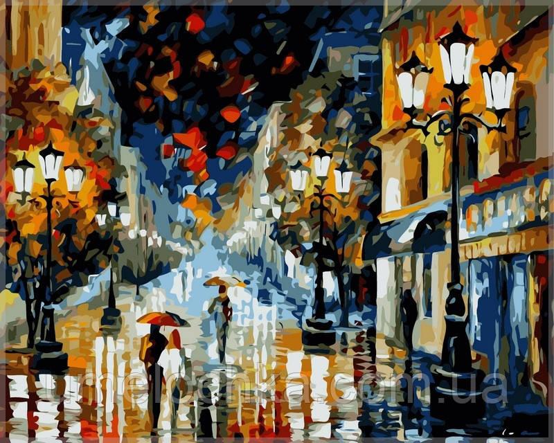 Картина по номерам на холсте Babylon Романтическа ночь