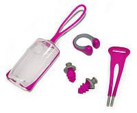 Комплект Aqua Sphere: зажим для носа Silicone Nose Clip + беруши Ear Plugs