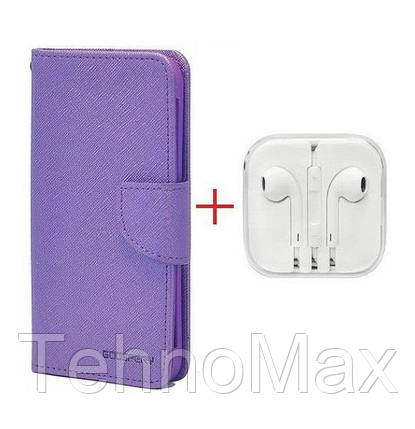 Чехол книжка Goospery для Samsung Galaxy S4 Mini Plus + наушники Apple iPhone (в комплекте). Подарок!!!, фото 2