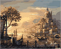 Картина по цифрам на холсте Babylon Вечерняя Венеция
