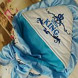 Конверт на выписку, с  рюшами и вышивкой Маленький Король, фото 2
