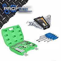 Набор инструмента 39 ед. INTERTOOL ET-6039SP + Набор отверток Miol 63-475 + Набор ключей Miol 51-710