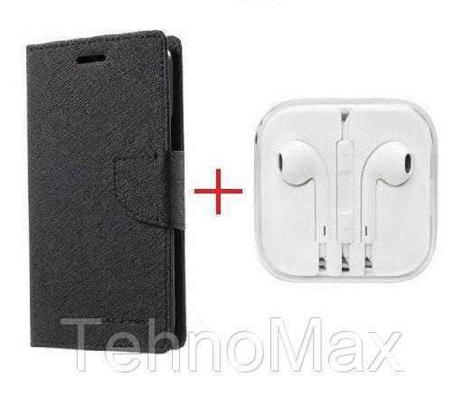 Чехол книжка Goospery для Asus Zenfone Max (M1) ZB556KL + наушники Apple iPhone (в комплекте). Подарок!!!