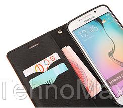 Чехол книжка Goospery для Asus ZENFONE GO ZC500TG + наушники Apple iPhone (в комплекте). Подарок!!!, фото 3