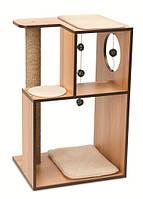 Дряпка для кошки Hagen Vesper V-box 2 (вертикальных короба со столбиком) (ореховая)