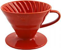 Пуровер HARIO VDC-02R V60 красный (керамика), фото 1
