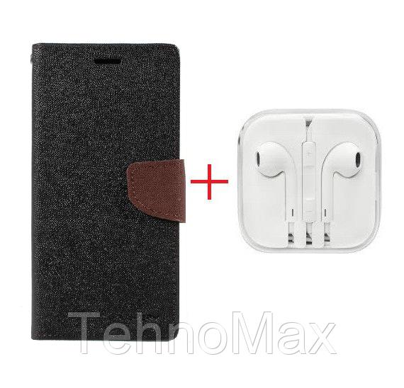 Чехол книжка Goospery для  HTC DESIRE 828 DUAL SIM + наушники Apple iPhone (в комплекте). Подарок!!!