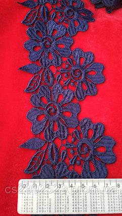 Тесьма цветы 20 метров.кружево цветы цвет синий, фото 2