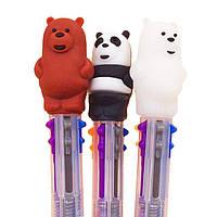 Шариковая авторучка 6-и цветная Медведь ассорти №8799-В