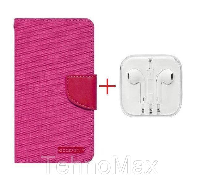 Чехол книжка Goospery для Huawei P8LITE ALE-L04 + наушники Apple iPhone (в комплекте). Подарок!!!
