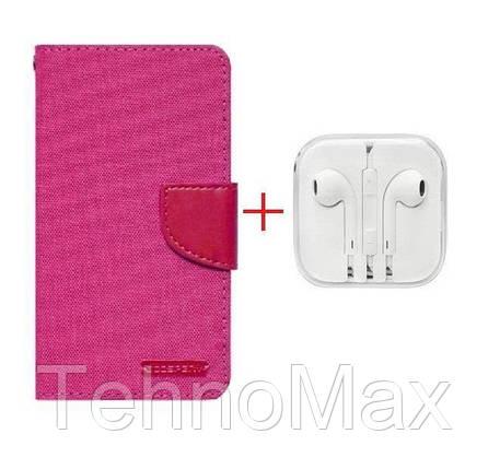 Чехол книжка Goospery для Huawei Ascend G7 Plus + наушники Apple iPhone (в комплекте). Подарок!!!, фото 2