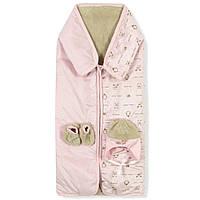 Флисовый конверт-одеяло для девочки Bebessi Bebessi