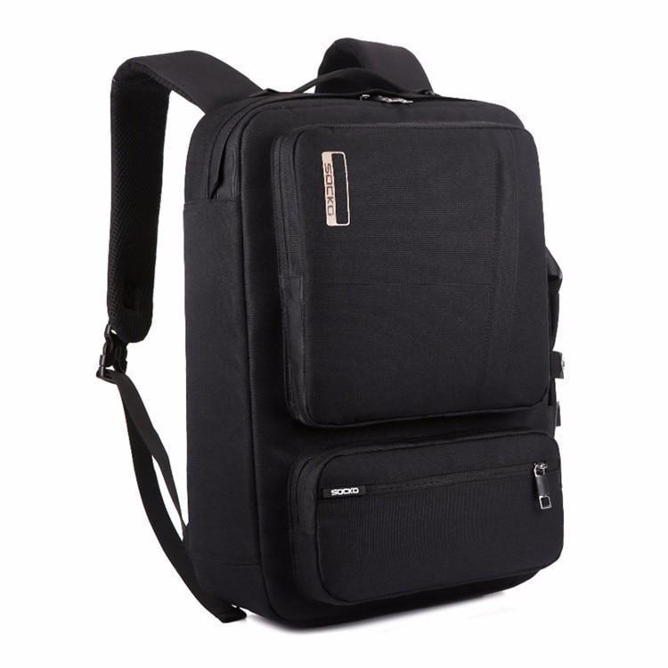 43712cb886ab Качественный Многофункциональный рюкзак-сумка для ноутбука Socko BLACK -  Интернет магазин