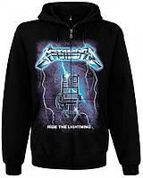 "Толстовка Metallica ""Ride the Lightning"" на молнии, Размер S"
