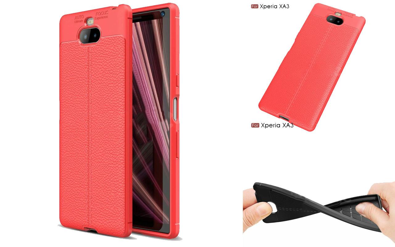 Бампер для Sony Xperia 10 Plus Red - Deexe Cover