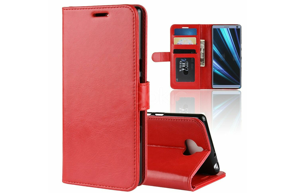 Чехол-книжка для Sony Xperia 10 Plus - Red - Wallet Cover