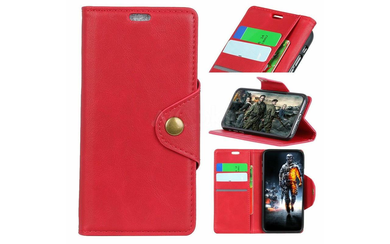Чехол-книжка для Sony Xperia 10 Plus - Red - Vintage Cover