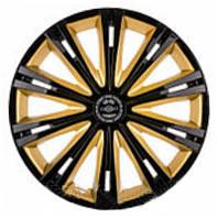 Колпаки на колеса R15 черные + золото, Star Giga Super Black Gold (5478) - комплект (4 шт.)