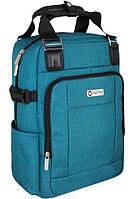 Деловой рюкзак-сумка OPTIMA O86241, 17 л синий
