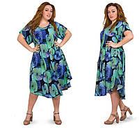 Платье женское летнее большого размера 54-58