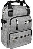Рюкзак-сумка 2в1 OPTIMA O86242, 13 л серый