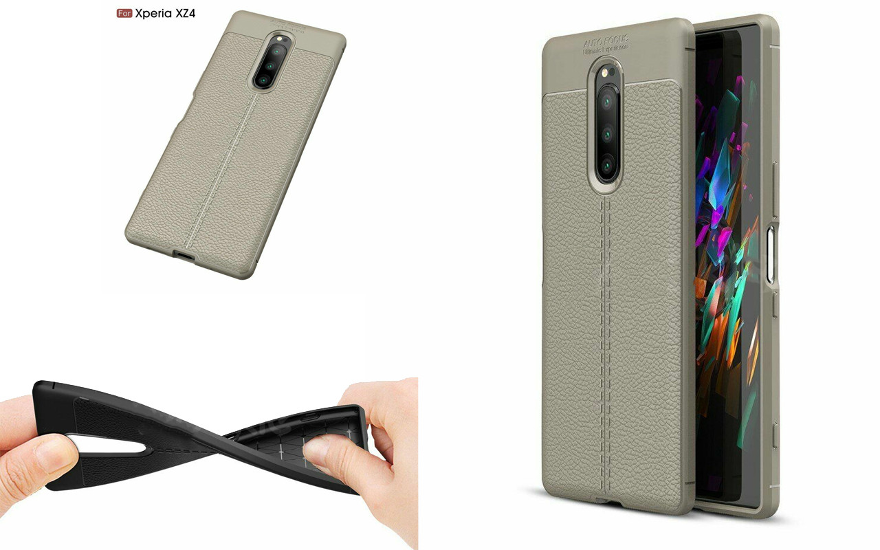 Бампер для Sony Xperia 1 - Gray - Deexe Cover