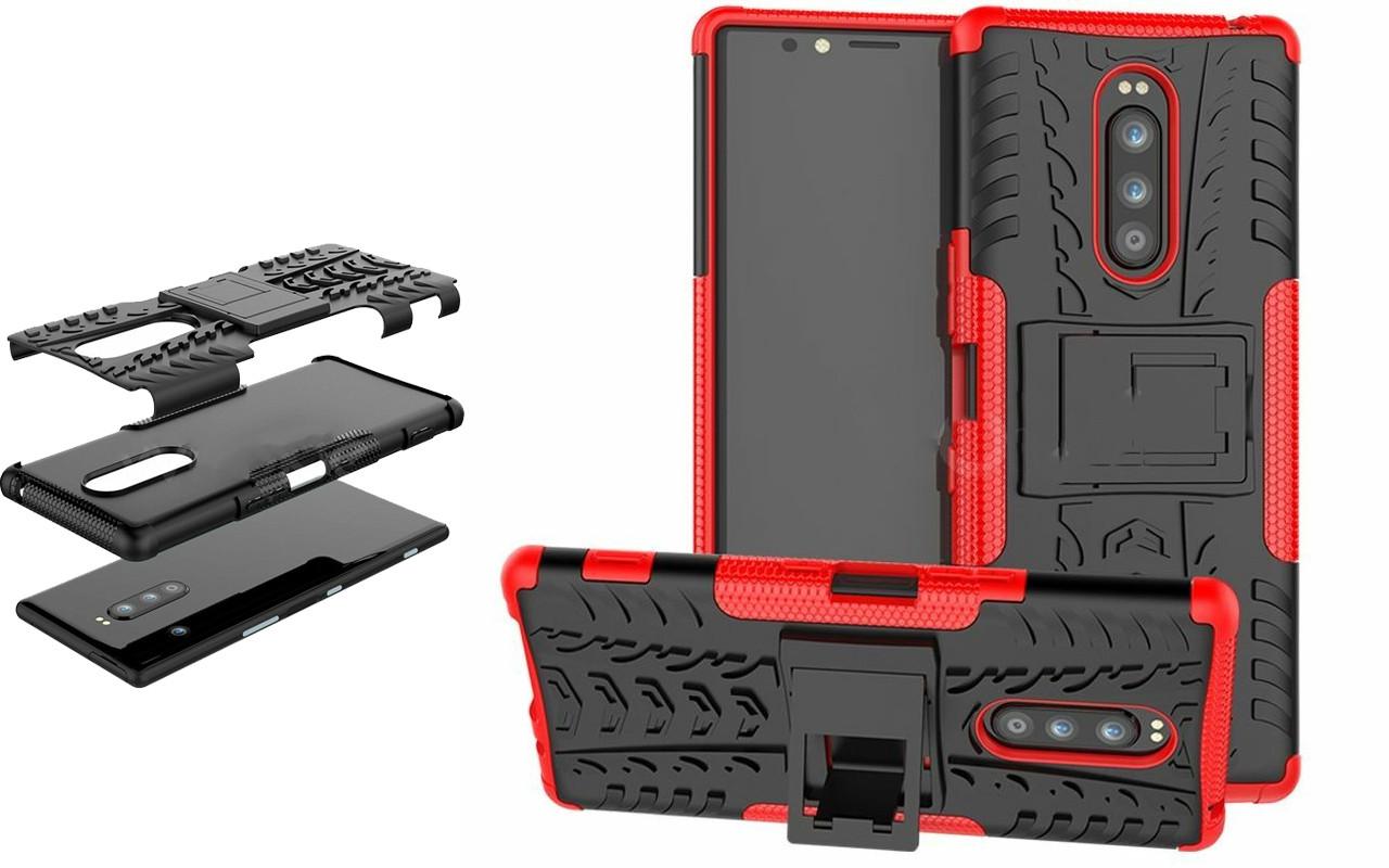 Бампер для Sony Xperia 1 - Red - Hybrid Cover