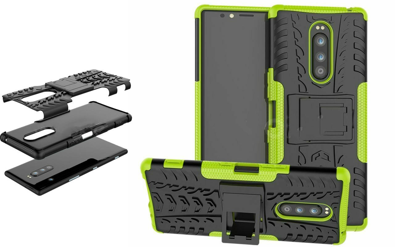 Бампер для Sony Xperia 1 - Green - Hybrid Cover