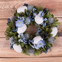 Венок пасхальный синий Пасхальный декор