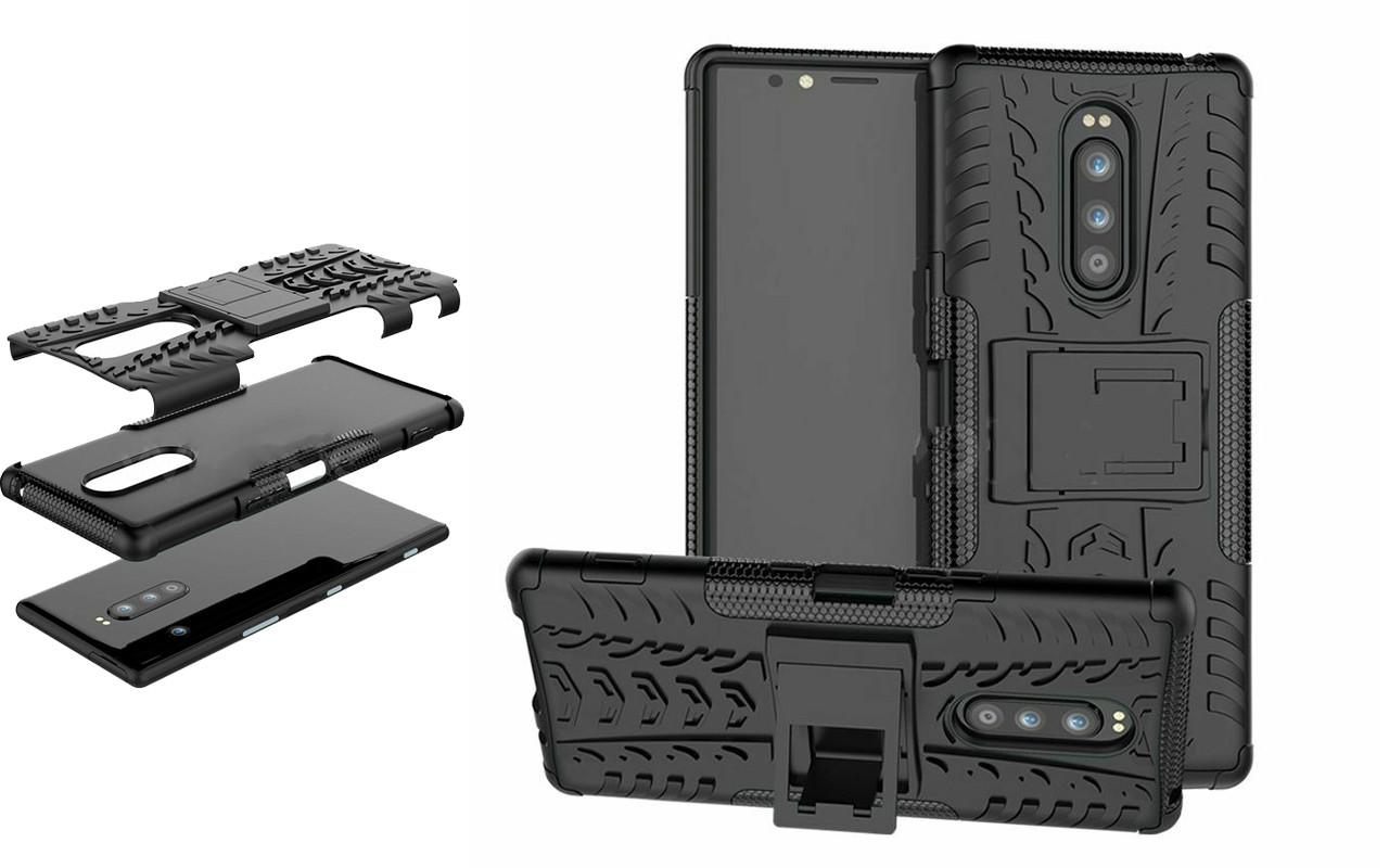 Бампер для Sony Xperia 1 - Black - Hybrid Cover