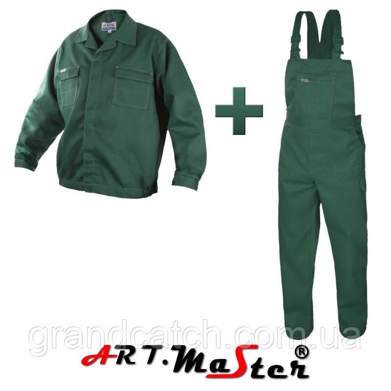 Костюм робочий Artmaster полукомбинезон+куртка (зеленый)