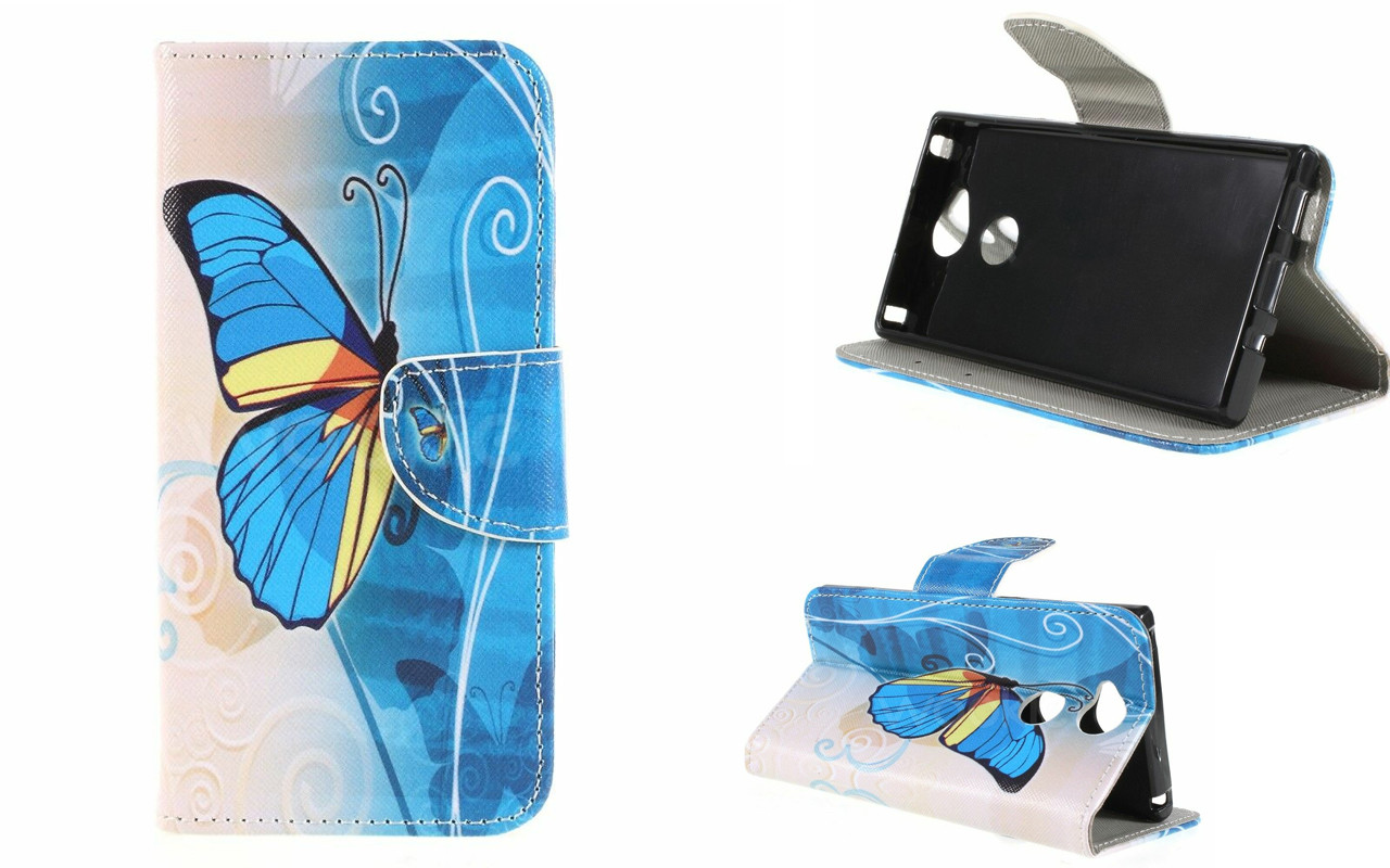 Чехол-книжка для Sony Xperia XA2 - Butterfly Blue - Life Style Cover