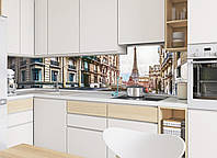 Кухонный фартук Париж, (фотопечать скинали, пленка для стеновых панелей, Франция, Эйфелева башня)600*2500 мм, фото 1