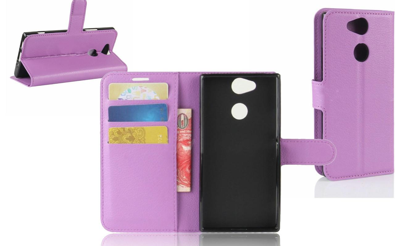 Чехол-книжка для Sony Xperia XA2 - Purple - Deexe Cover