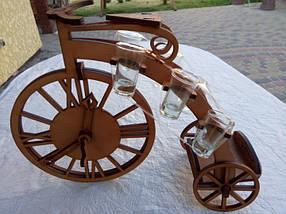 Мини-бар Велосипед с часами и  рюмками, фото 3