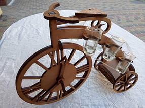 Мини-бар Велосипед с часами и  рюмками, фото 2