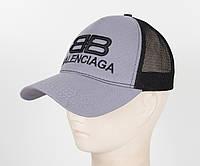 Бейсболка вышивка сетка B1901 Серый, фото 1