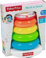 Детская пирамидка, пирамидка для детей Brilliant Basics Rock-a-Stack, Fisher Price/Фишер Прайс  71050