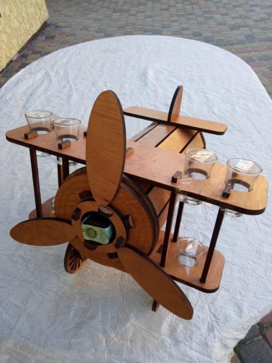 Мини-бар Самолет с рюмками